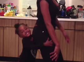 Little Girl Outdances Big Sister! - Video