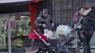 devil baby in street new yourk city - Video