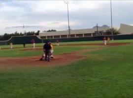 Brother's Foul Ball Hits His Sister's Phone