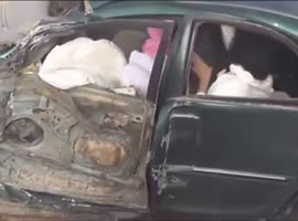 Stupid Saudi Drifters Cause Accident on the Road