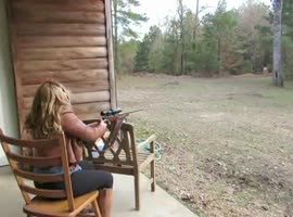 Firing a Gun with a Scope Gone Wrong - Video