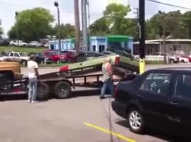 How Not to Load and Tow a Truck