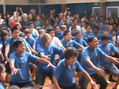 Elementary Schools Kids Have Haka Face Off!