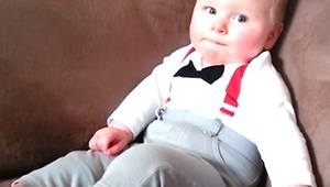 Baby Boy Tries to Copy Mom, Fails Adorably - Video