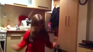 A Little Girl Goes Crazy Dancing To Her Favorite Song - Video