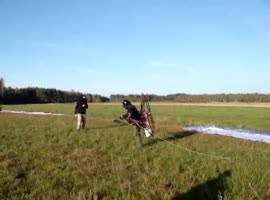 Para glider Take off Gone Wrong - Video