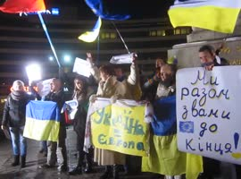 Ukrainian Euro Maydan protest in Sofia, Bulgaria - Video