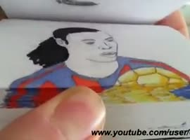 Unbelievable Ronaldinho Flip Book!! - Video