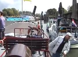 -Stupid Boat Captain Causes Accident- - Video