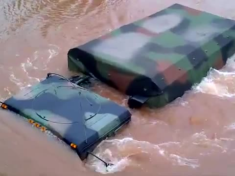 National Guard Trucks Underwater and Doesn't Make It