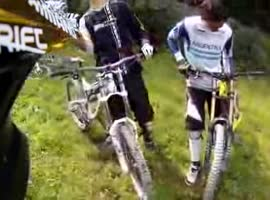 _Unexpected Turn Takes Out Four MTB Bikers_