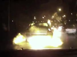 CAR EXPLODES ON THE ROAD! - Video