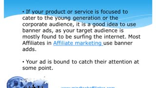 BANNER ADS CAN BE A GOOD CHOICE FOR INTERNET  MARKETERS - Video