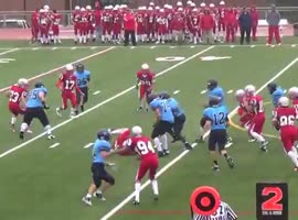 "Football Player Nicknamed ""Bulldozer"" - Video"
