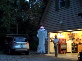 Man Creates Scary Halloween Ghost On A Quadcopter