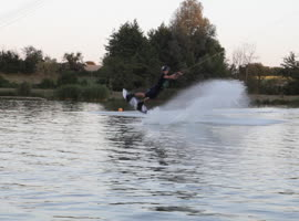 Dramatic Wakeboard Wipeout! - Video