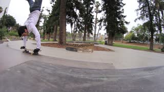 Skateboard Freestylist Pulls Off Handstand Flip - Video