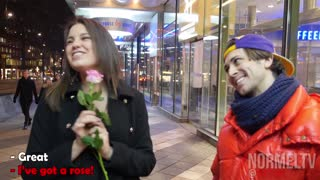 Roses for kisses on Valentines day - Video