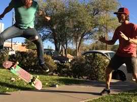 Kickflipping a Beer! - Video