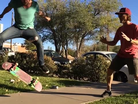 Kickflipping a Beer!