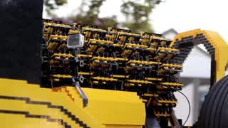 Homemade, real size working lego car. - Video