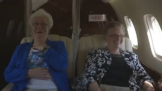 Grandmas Experience Flying for the First Time