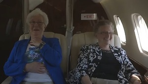 Grandmas Experience Flying for the First Time - Video
