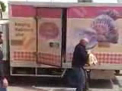 Guy Scares Delivery Truck Driver