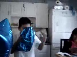 KID INHALES TOO MUCH HELIUM - Video