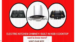 Seavy kitchen chimney, built in hobs, cooktops india - Video
