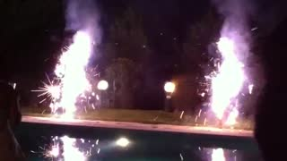 Impressive FireWorks at The Pool! - Video