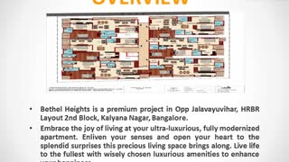Bethel Heights Bangalore | Bethel Heights Kalyana Nagar | Properties in Kalyana Nagar | Commonfloor - Video