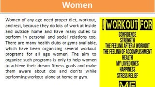 Fitness Program For Women - Video