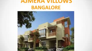 Ajmera Villows Bangalore | Ajmera Villows Electronic City | Properties in Electronic City | Commonfloor - Video