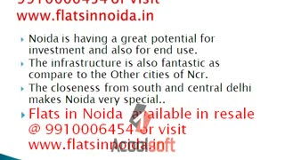 Flats in Noida 9910006454, Resale 1,2,3 BHK Flats in Noida, Apartments in Noida - Video