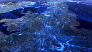 European air traffic data visualization in two minutes - Video