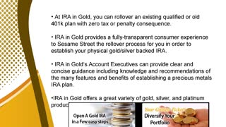 Gold IRA by IRA in Gold – A Sensible Retirement Saving - Video