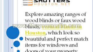 Quality Shutters and Blinds  in Wide Ranges - Video