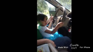 Driving at Only 3 Years Old - Video