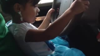 3 Year Old Driving - Video