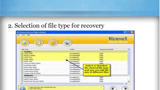 Image recovery software - Video