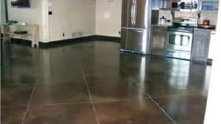 Basement Concrete Stain Kansas City - Video