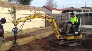 Remove Stumps with Excavator for Home Extension Projects - Video