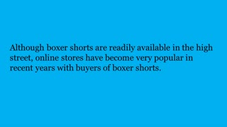 Buy Boxer Shorts Online - Video
