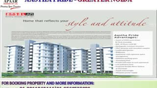 Ansal API Coming Soon 2 BHK Apartments @9560535989 Greater Noida Astha Pride - Video