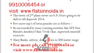 3c lotus panache sector 110 noida 9910006454 expressway, resale price in 3c lotus panache noida - Video