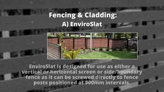 Composite Decking, Fencing & Cladding Products - Video