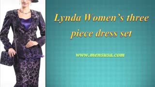 Lynda Women's three piece dress set - Video
