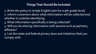 How To Write A Privacy Policy - Video