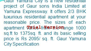 Gaur Yamuna City Specifications Gaursons Projects Noida  8447730206 - Video